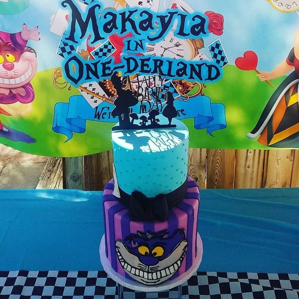 1st birthday themes girl alice in wonderland