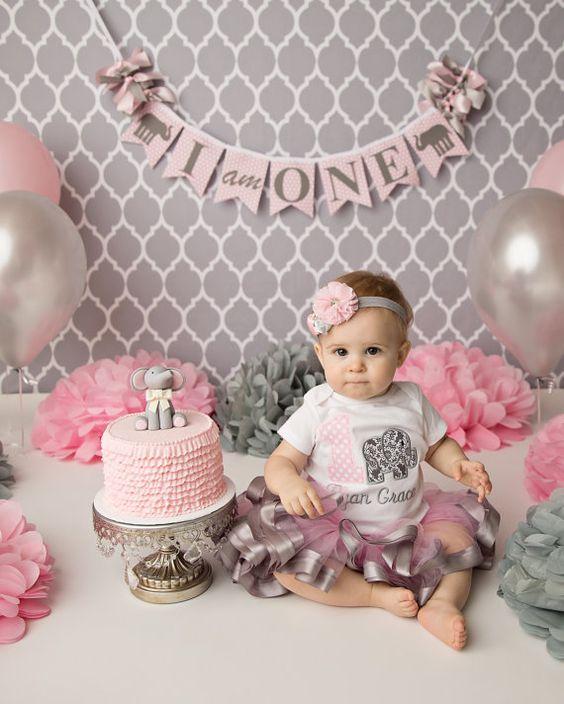 baby 1st birthday elephant themed